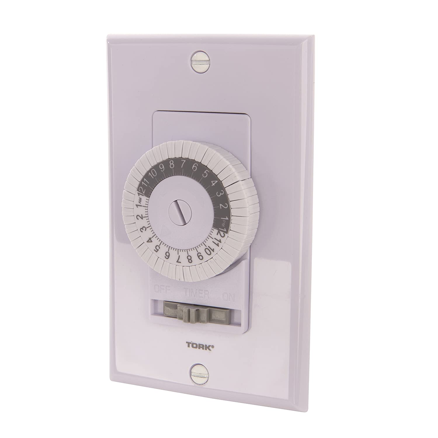 TORK 701B 24 Hour Mechanical In Wall Time Switch, 20 Amps, White - - Amazon.com