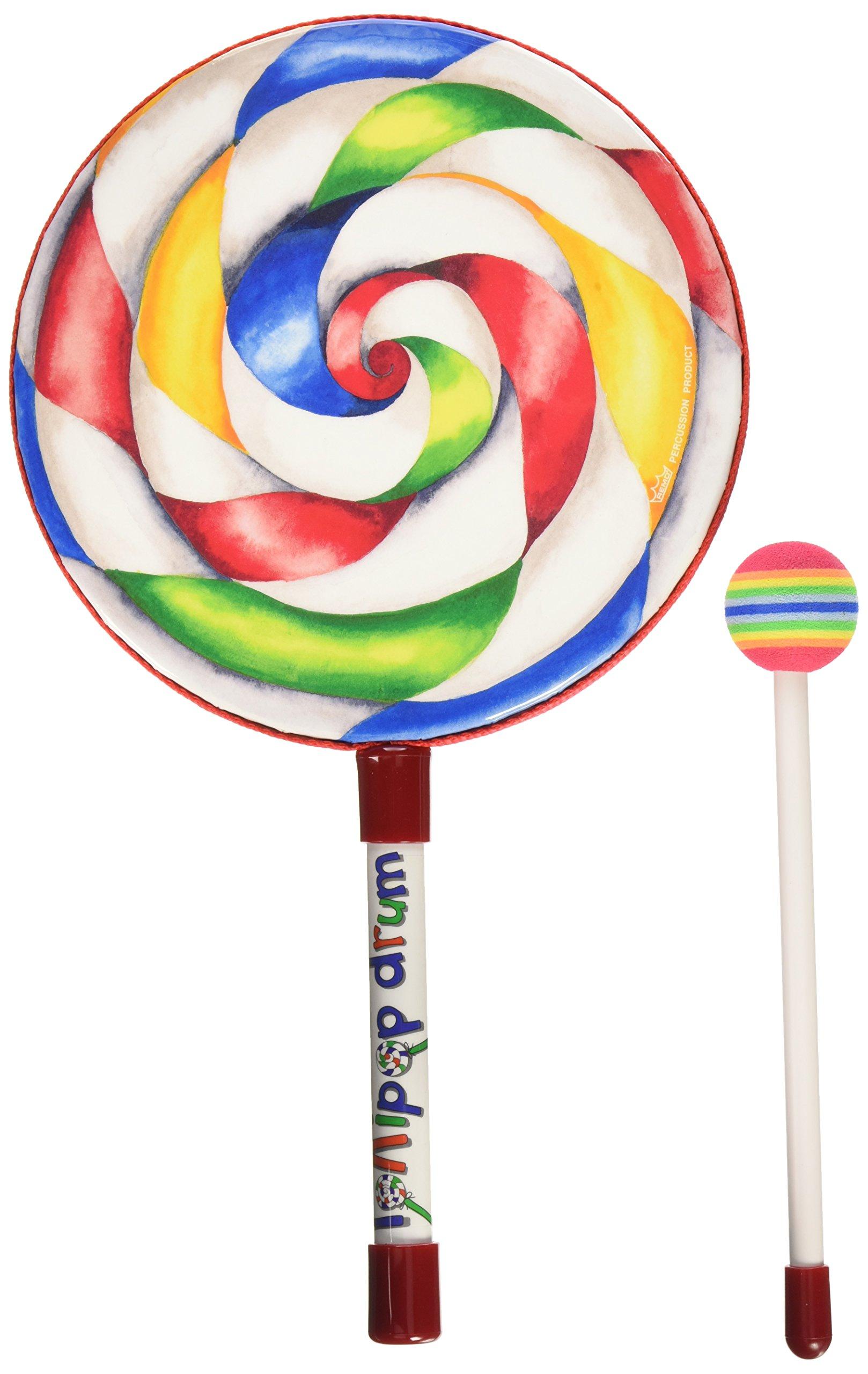 Remo ET-7108-00 Kids Percussion Lollipop Drum, 8'' by Remo