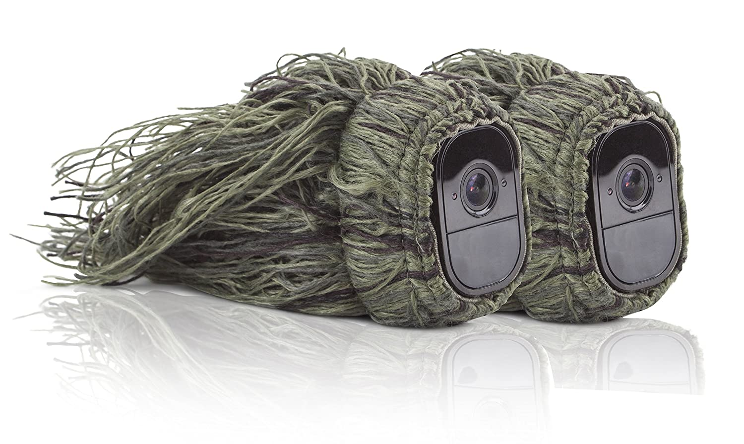 Ghillie Skin for Arlo Pro Smart Security - 100% Wire-Free Cameras by Wasserstein (1 Pack)