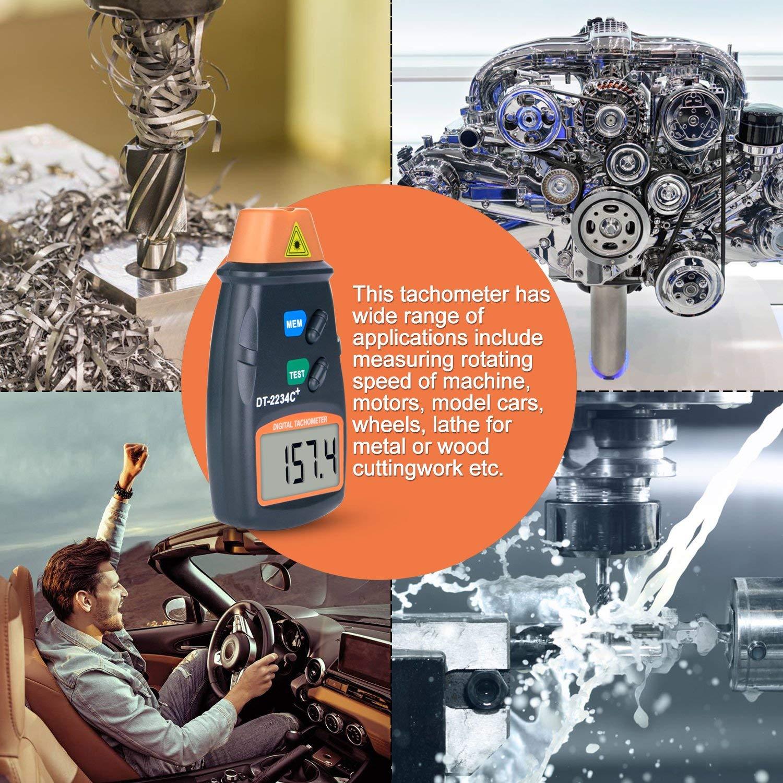 Agptek Professional Digital Laser Photo Tachometer Non Car Circuit Schematic Diagram Contact Rpm Tach Automotive