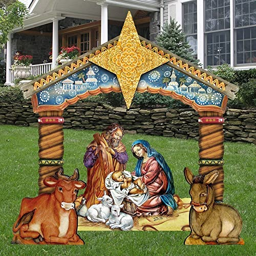 G.DeBrekht Christmas Nativity Set Wooden Free-Standing Outdoor Decoration  FS8114030 - Amazon.com: G.DeBrekht Christmas Nativity Set Wooden Free-Standing