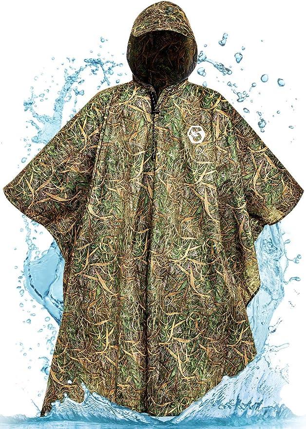 Best Hunting Rain Gear: Foxelli Hooded Rain Poncho