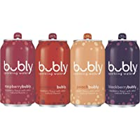 Bubly 18-Pack of 12 fl oz. Berry Peachy Variety Pack Sparkling Water Cans