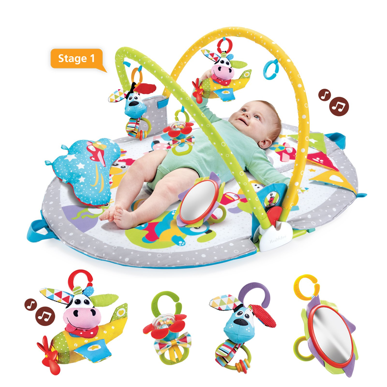 Yookidoo Gymotion Lay to Sit-Up Play Mat Infant Activity Toy for Baby 0 - 12 Month by Yookidoo (Image #3)
