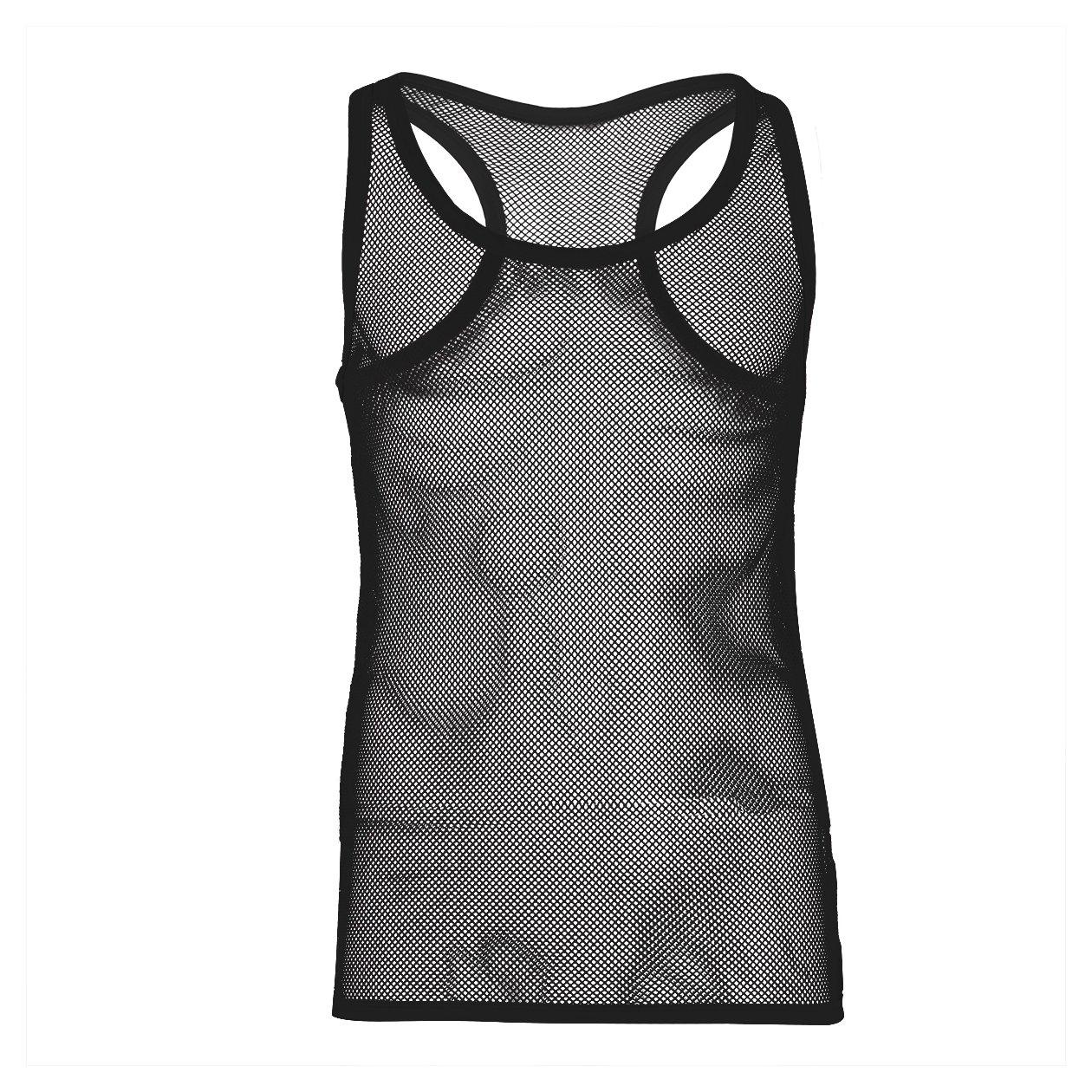 CHICTRY Mens Sleeveless Mesh See-Through Vest Tank Top Fishnet T-Shirt Undershirts
