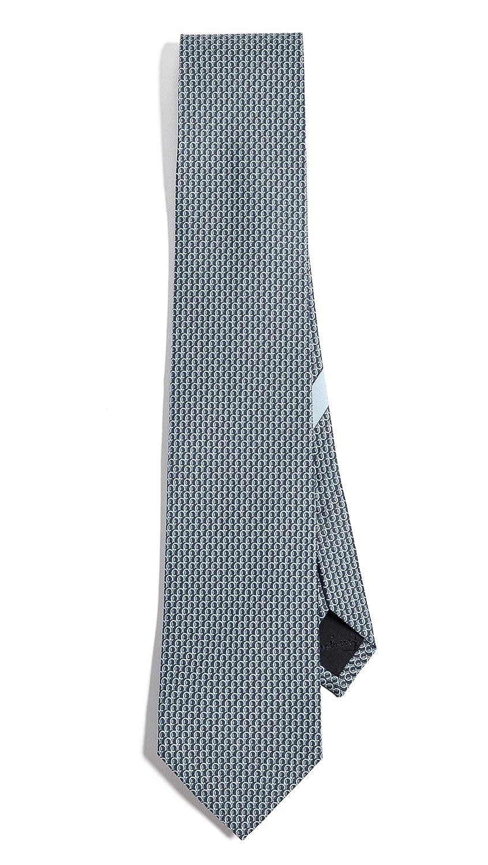 Salvatore Ferragamo Men's Gancio Print Tie Blue/Grey One Size Salvatore Ferragamo-Men' s
