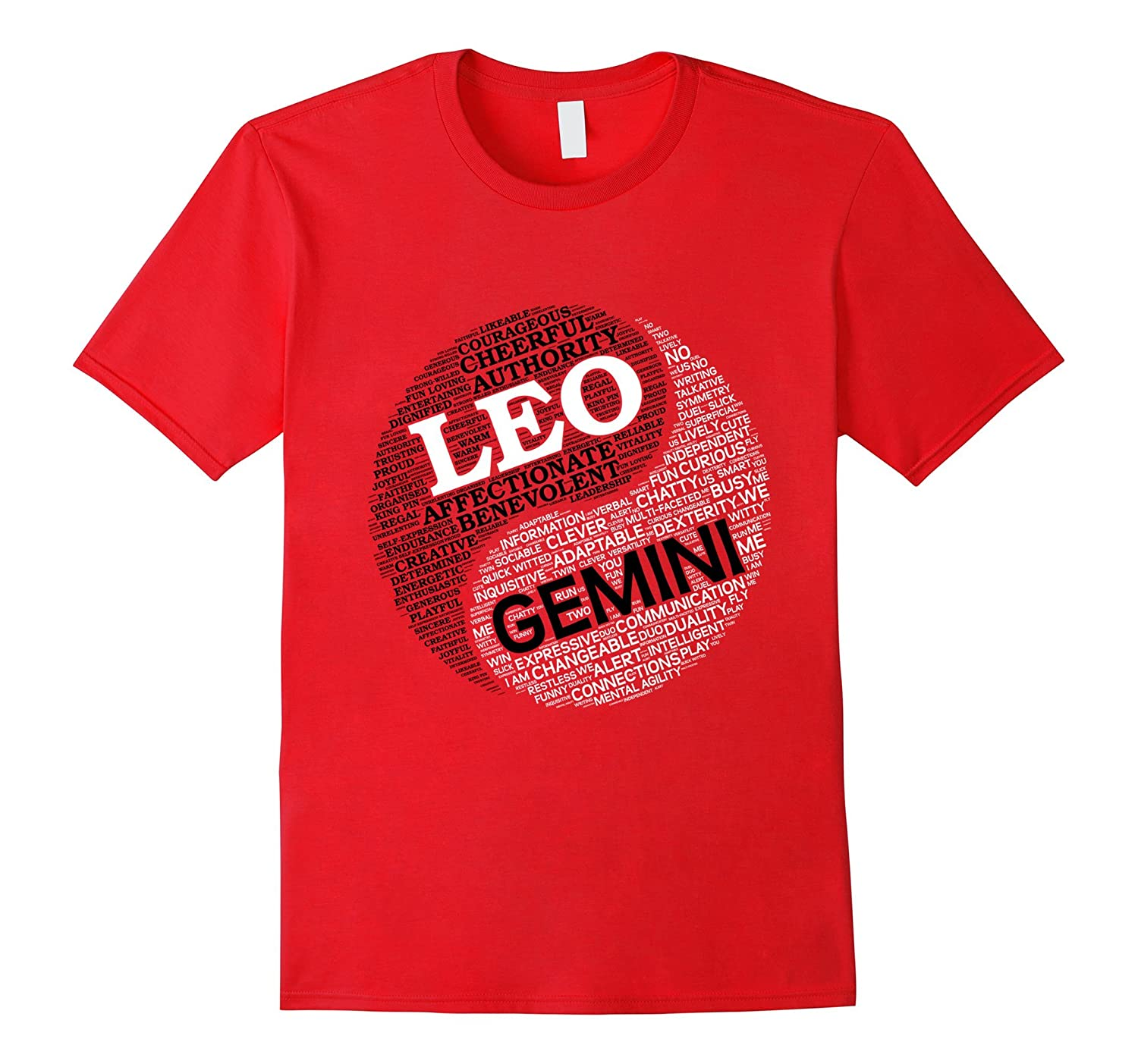 Zodiac Shirt for Men and Women Leo and Gemini T-shirt-TH