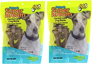 product image for Fido Naturals Super Breath, 13 Treats Each, Dental Care Dog Bones, 2 Pack