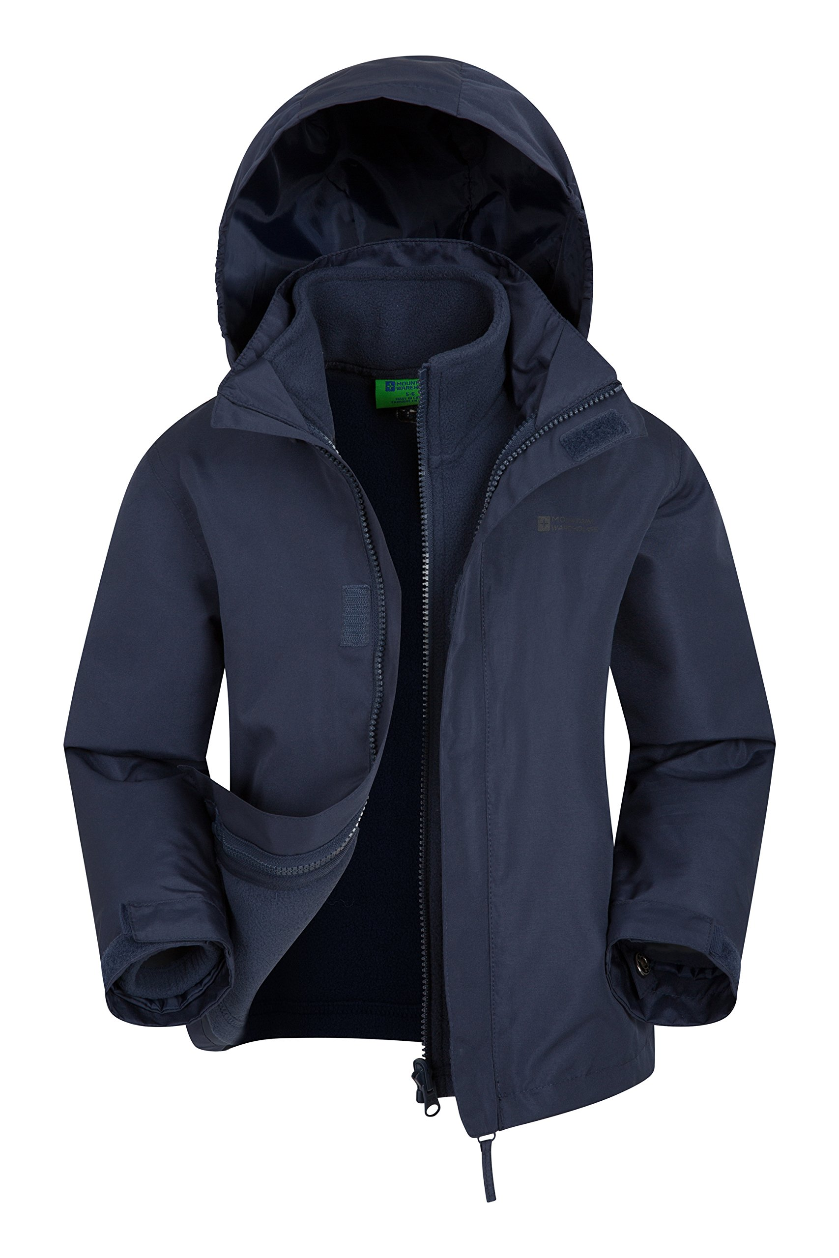 Mountain Warehouse Fell Kids 3 in 1 Jacket - Spring Triclimate Jacket Navy 7-8 Years