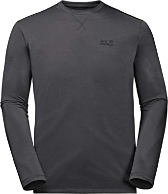 Jack Wolfskin Mens Cross Trail Long Sleeve Performance Lang Sleeve Shirt