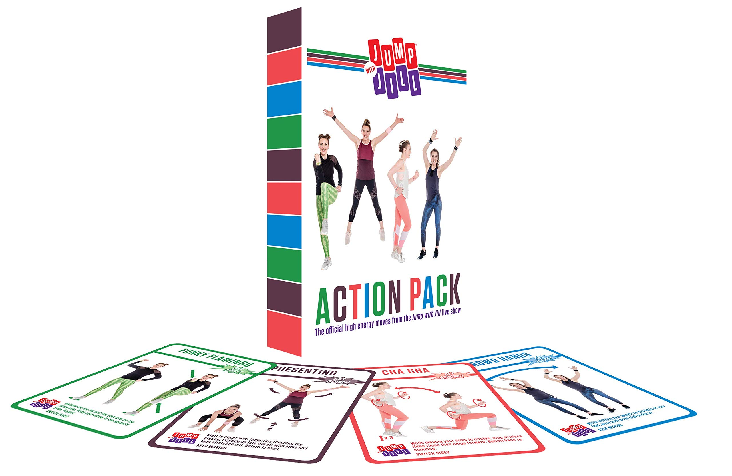 Jump with Jill Action Pack Exercise Playing Cards Workouts for Kids