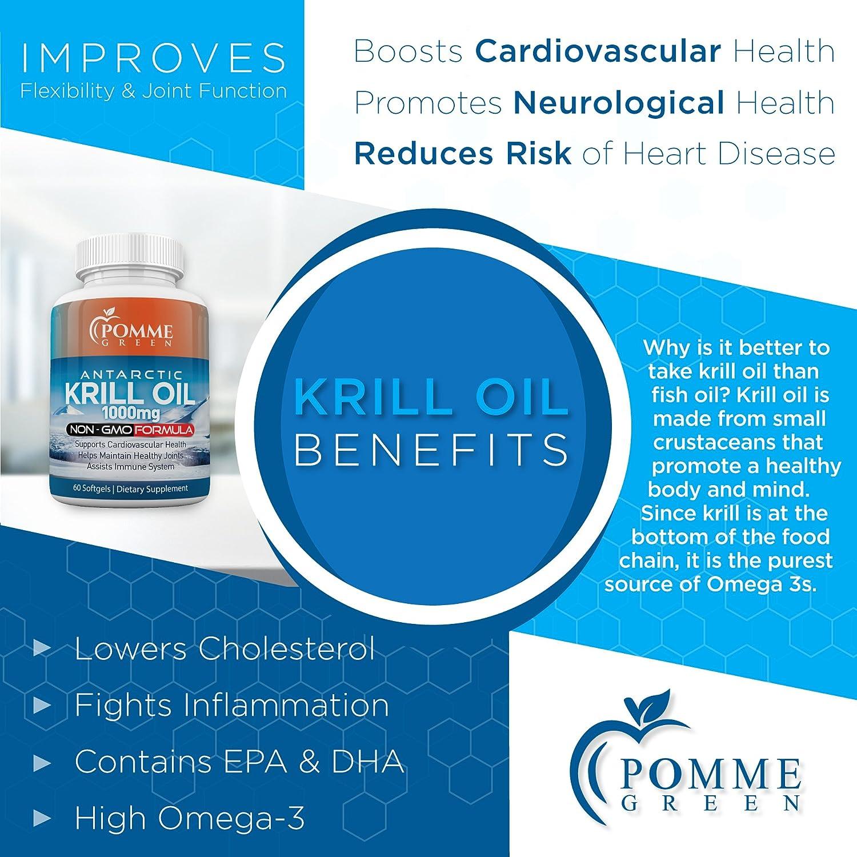 Amazon.com: Aceite de Krill absorbidos por Pomme Nutrición ...