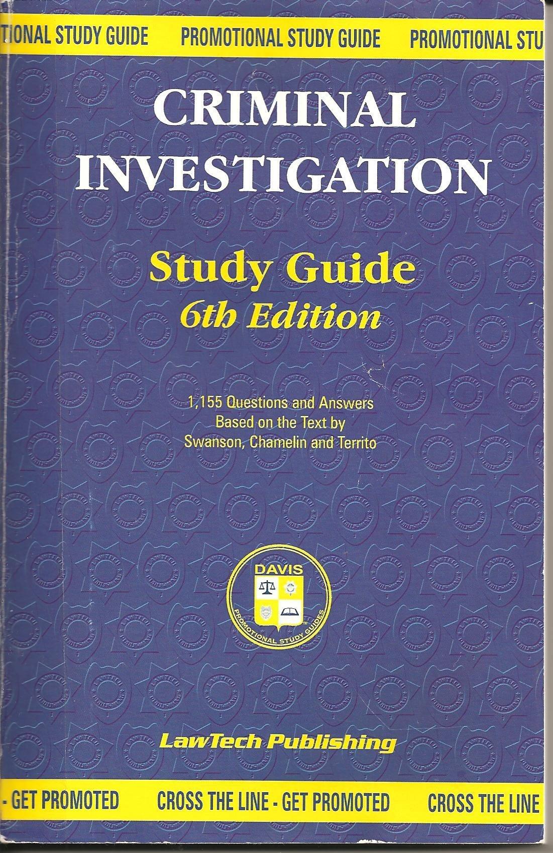 criminal investigation study guide promotion study guide davis rh amazon com Police Criminal Investigation Criminal Investigation Procedures