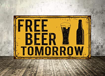 Amazon.com: Letrero de cerveza libre de Blafitance, cartel ...