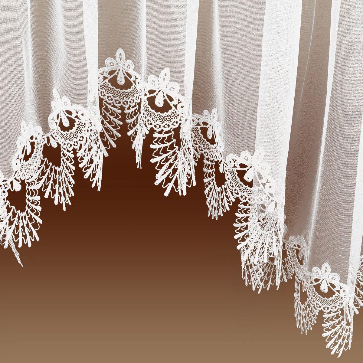 Stores von kollektion.MT Edler Blumenfenster-Store Nastja weiß mit ...