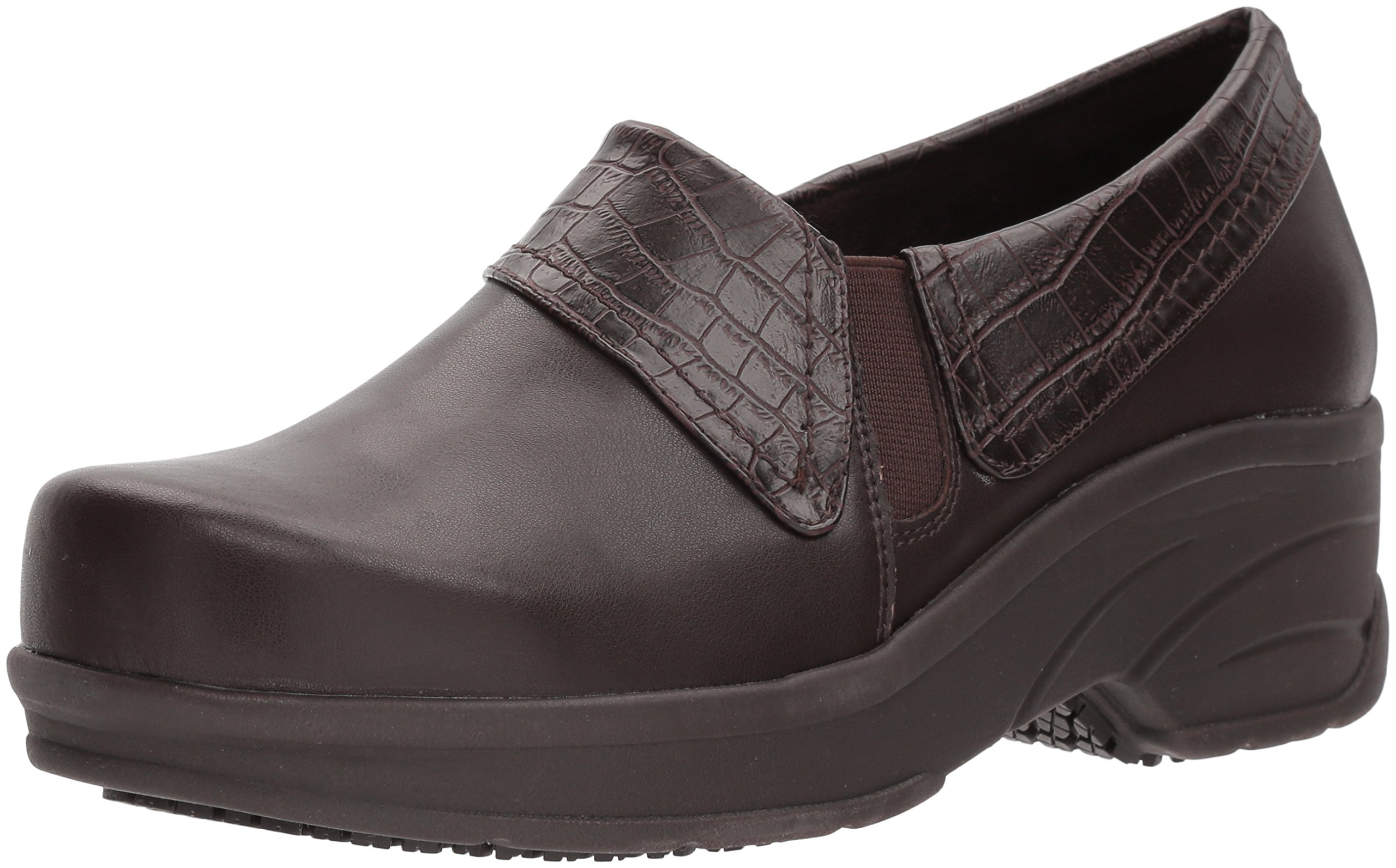 Easy Works Women's Assist Health Care Professional Shoe, tan/Brown Crocodile, 8 W US by Easy Works