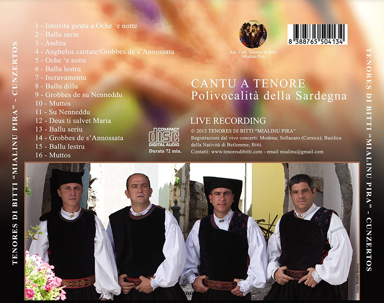 """Tenores di Bitti """"Mialinu Pira"""": Cunzertos (Tenore live) by Tenores di Bitti  """"Mialinu Pira"""", Tenores di Bitti """"Mialinu Pira"""", Arcangelo Pittudu, Omar  Bandinu, Marco Serra, Bachisio Pira, : Amazon.co.uk: Music"""