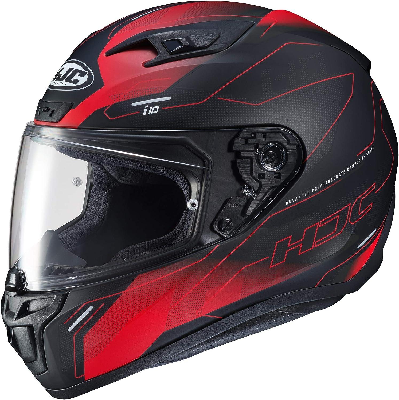 HJC i10 Taze Full Face Helmet RED BLACK