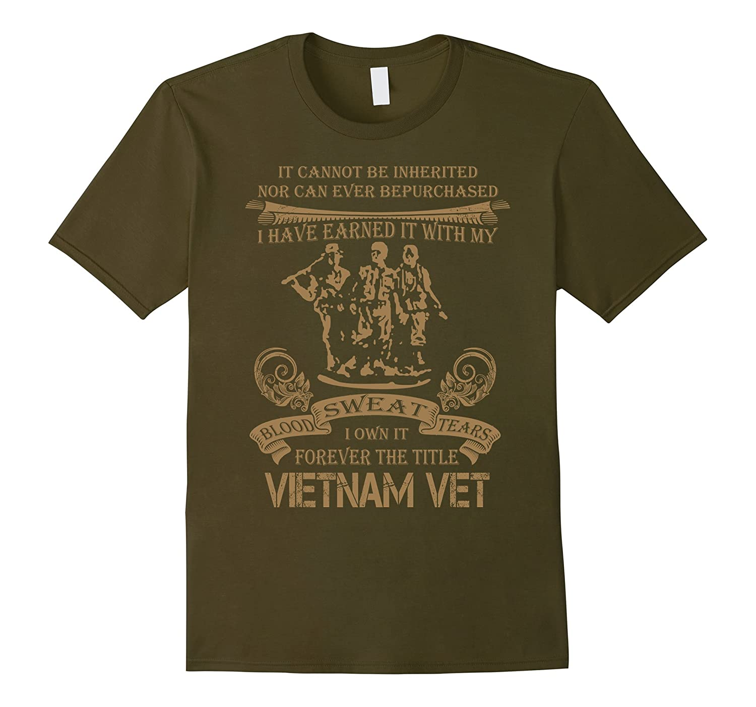 Forever the title Vietnam Vet Cannot be Inherited T-Shirt-RT