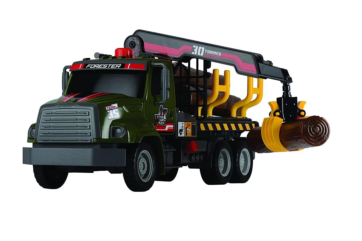 20 380 6001 AMU Dickie Toys 12 Air Pump Action Logging Truck Vehicle Dickie Imports