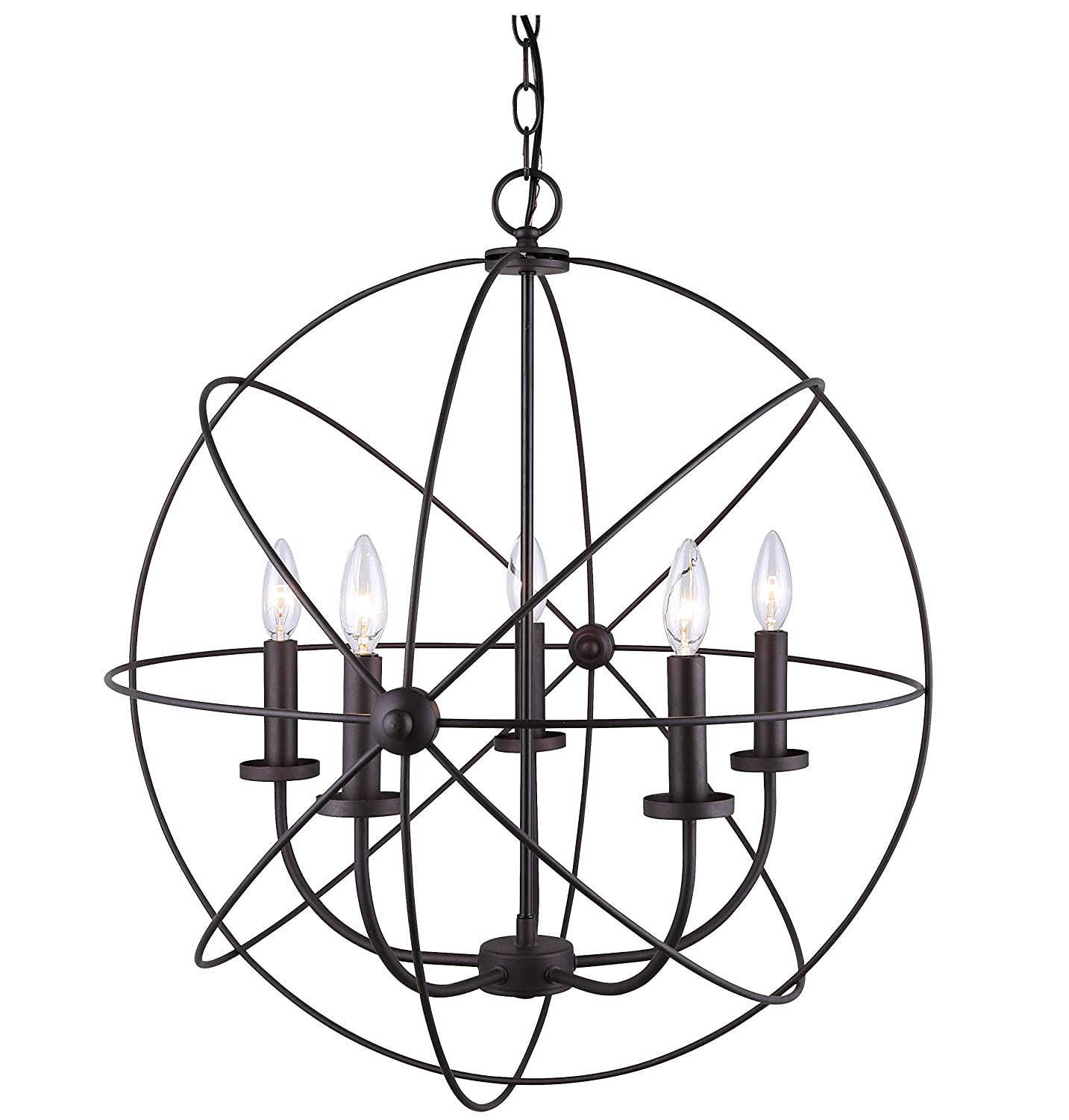 CANARM ICH282B05ORB25 Sumerside 5 Light Chandelier Amazon
