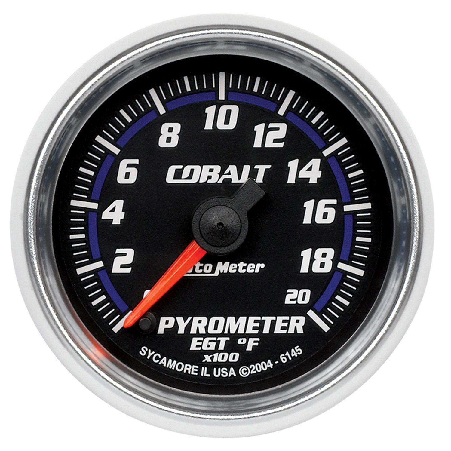 Auto Meter 6145 Cobalt Full Sweep Electric Pyrometer Gauge