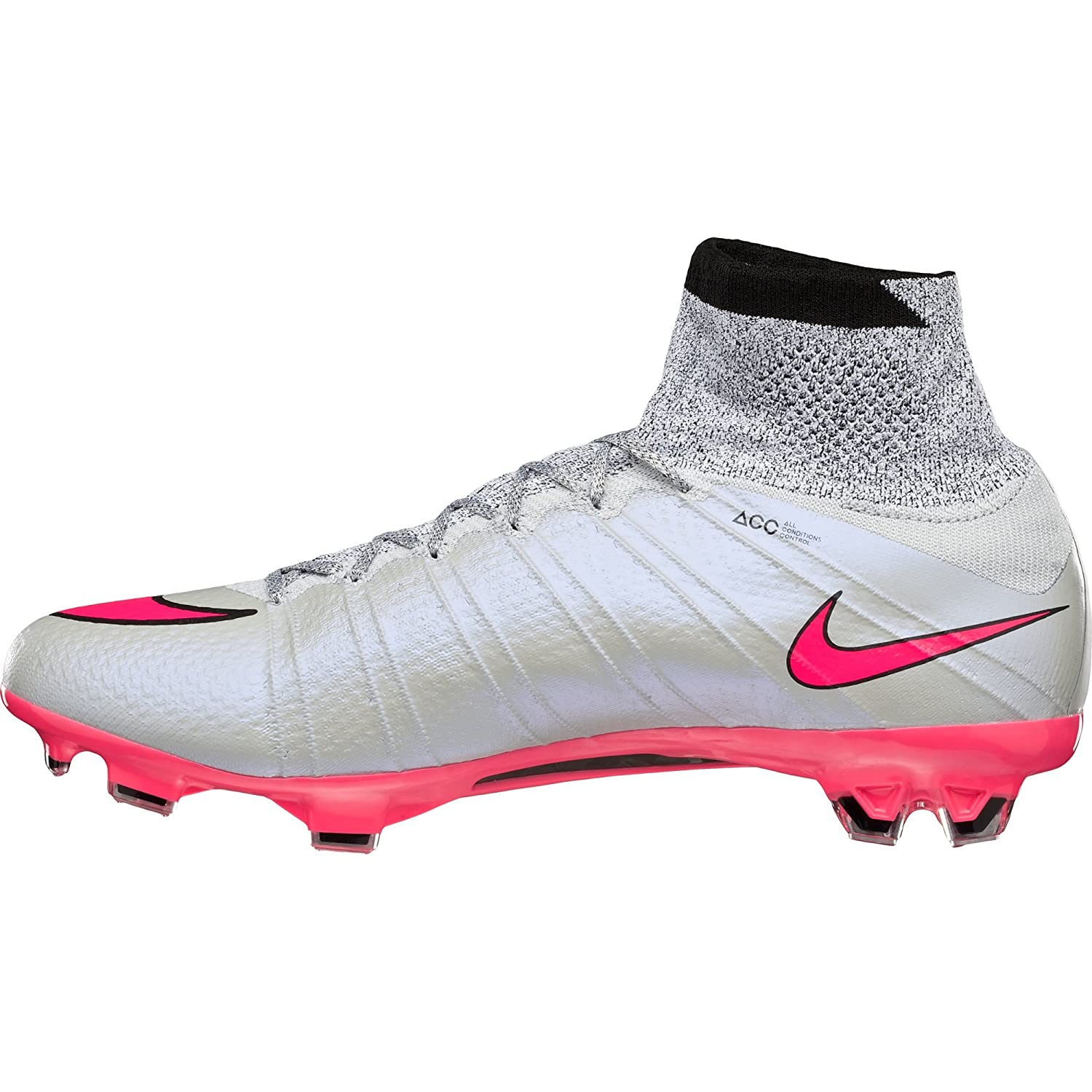 Kids Shoes - Nike Mercurial Victory FG Football Boots Wolf Grey/Pink