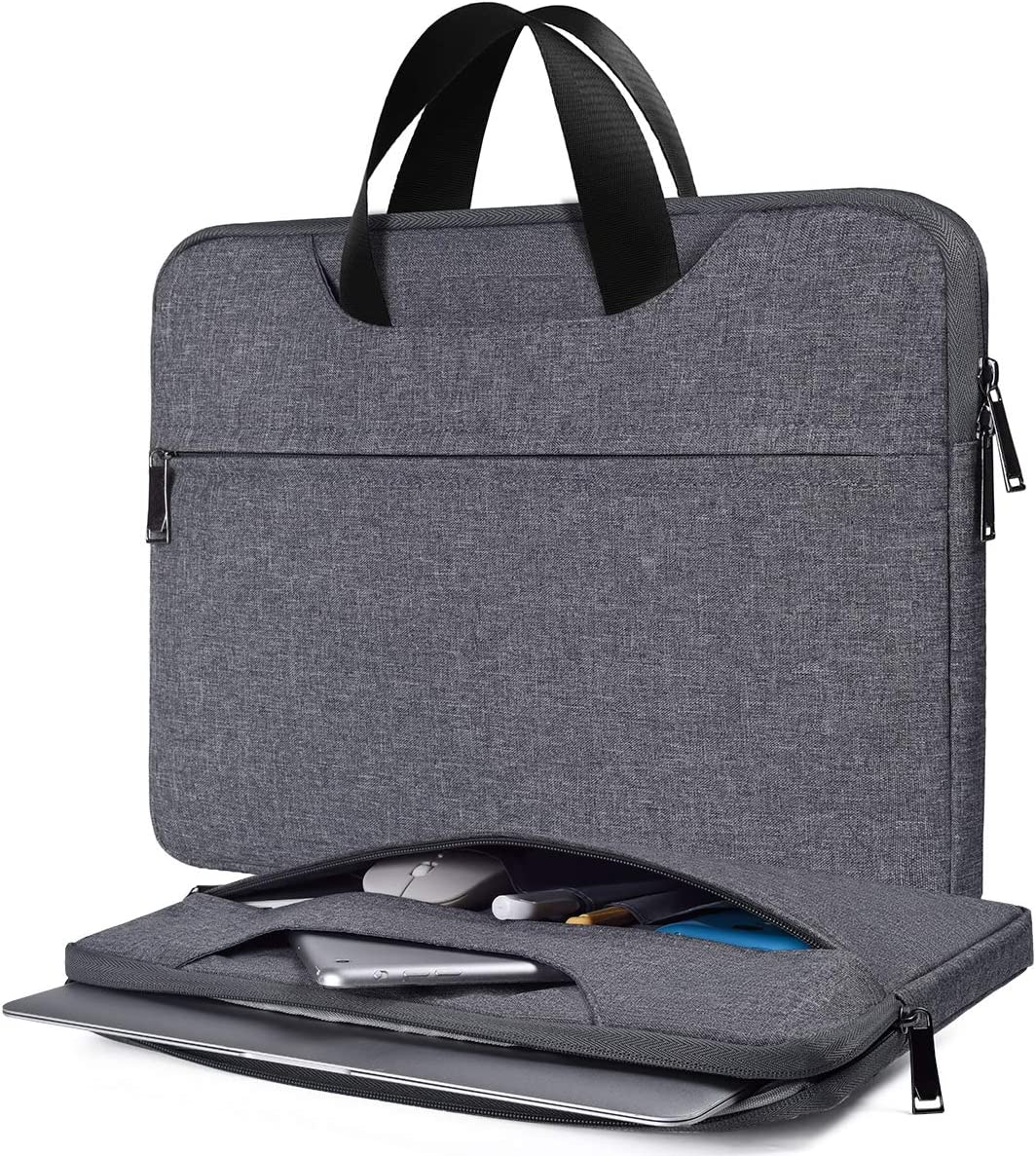 15.6 Inch Laptop Bag, Men Women Travel Briefcase Laptop Sleeve for Dell Inspiron 15 5000, Acer Aspire 5 A515/Aspire E15, HP Spectre x360 15.6, ASUS Chromebook 15.6, Lenovo Ideapad 330 15.6 Case, Gray
