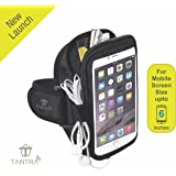 TANTRA Mobi-Case Adjustable Sports Running, Gym Anti-slip Ultra-Light Weight Armband Mobile Holder for Screen Size Upto 6 Inches (Multicolour)
