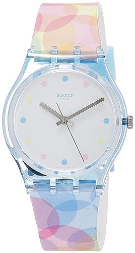 Swatch Reloj Analógico para Mujer de Cuarzo con Correa en Silicona GS159: Amazon.es: Relojes