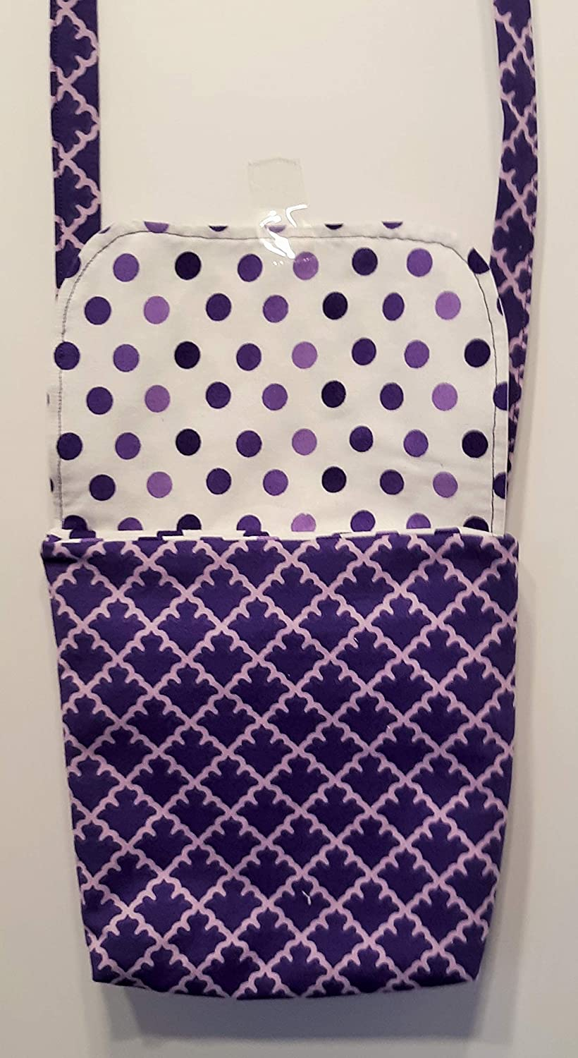 7 x 7 Two Pockets inside. Childrens Cross Body Purse
