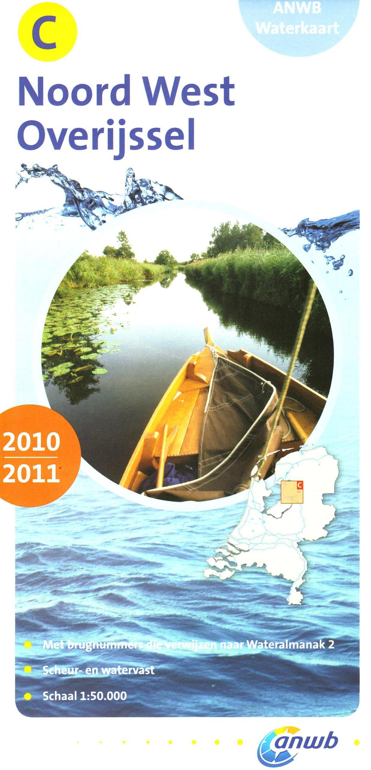 Wasserkarte C Noord-West Overijssel 1:50.000 (ANWB waterkaart)
