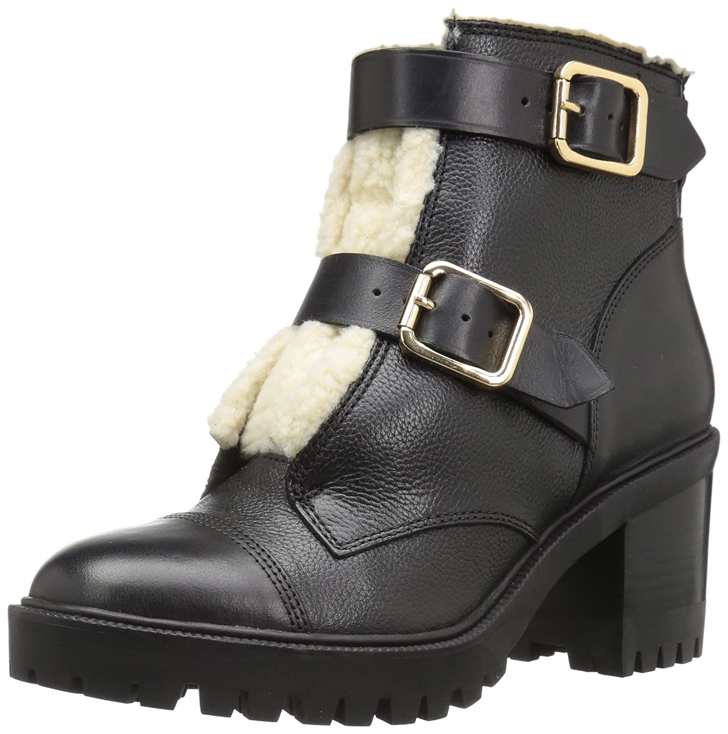 Nine West Women's Ingramm Leather Ankle Boot B06X6GGGZP 8.5 B(M) US|Black Multi