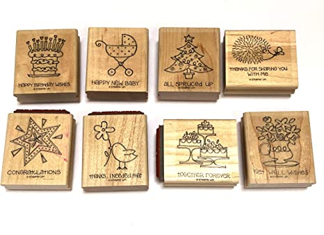 Stampin/' Up rubber stamp set SPECIAL GREETINGS 1996