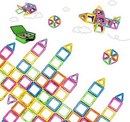 Magnetic Building Blocks • Set Of 42 Pieces • Construction • Early Years