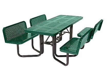 Cool Amazon Com Suncast Commercial Mptplc8101G Split Bench Machost Co Dining Chair Design Ideas Machostcouk