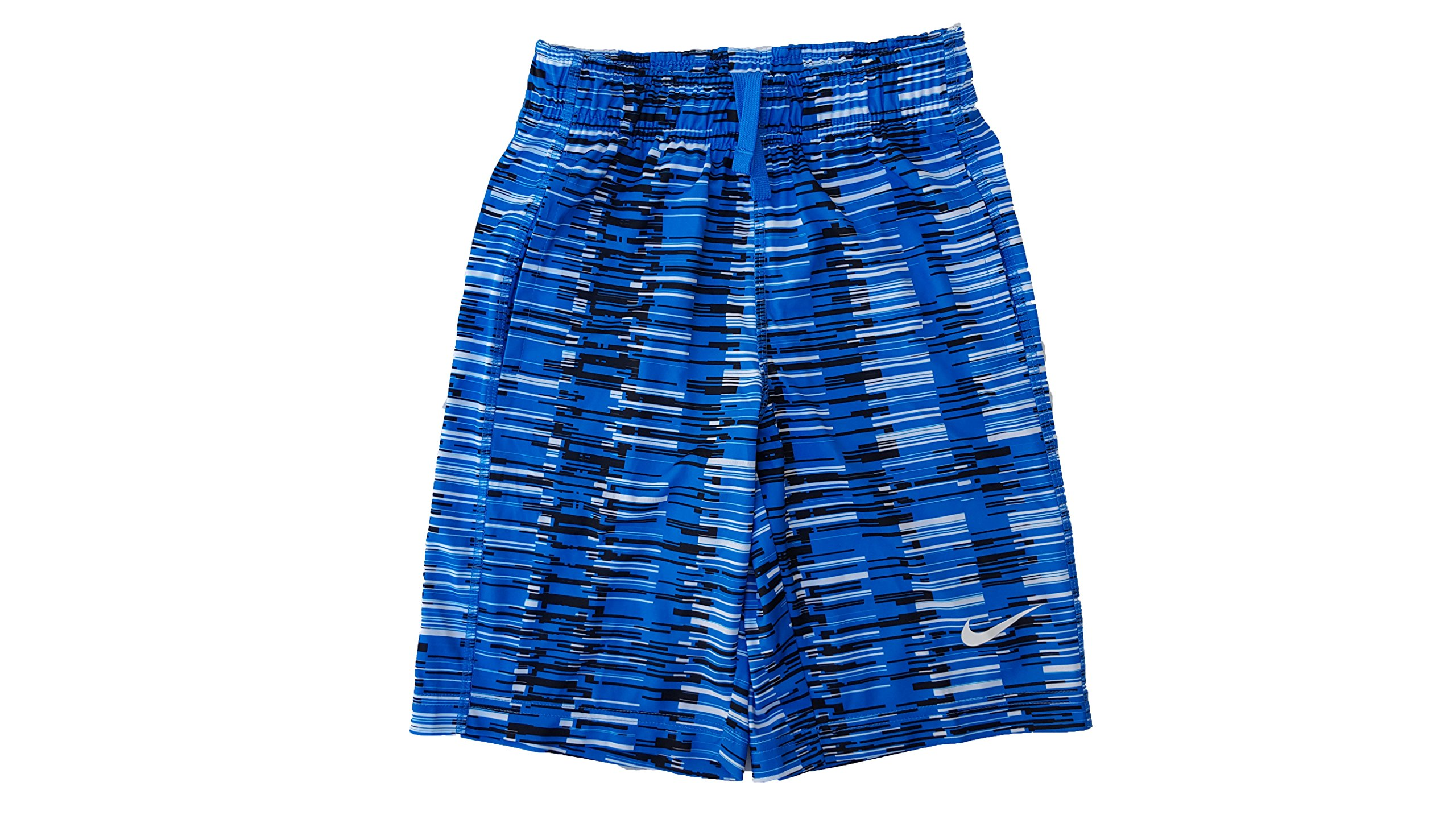 Nike Boy's Dri-FIT Fly Abstract-Print Shorts (X-Small, Photo Blue (407) / White/Photo Blue) by Nike