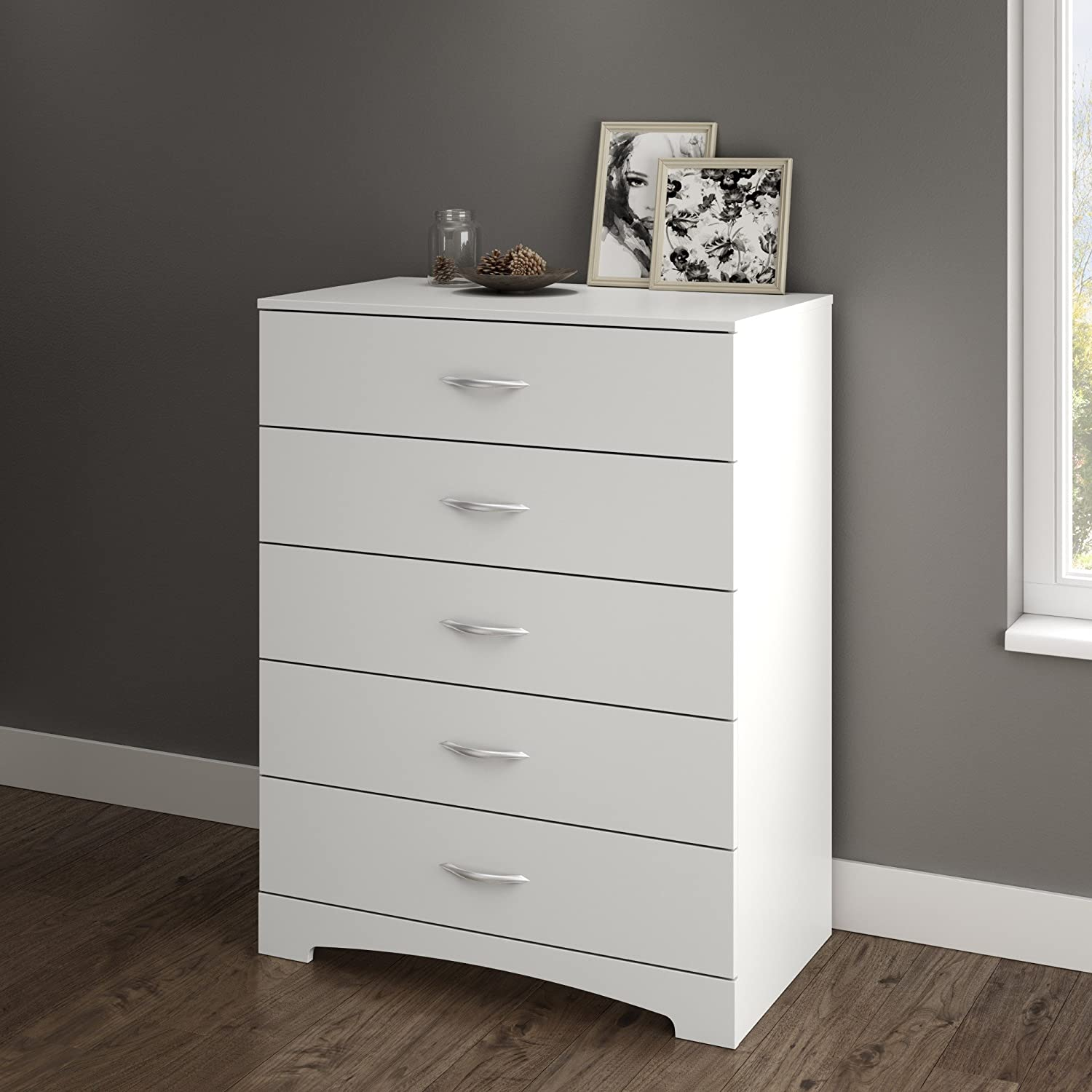 South Shore Step One 5-Drawer Chest Pure White South Shore Furniture B160035