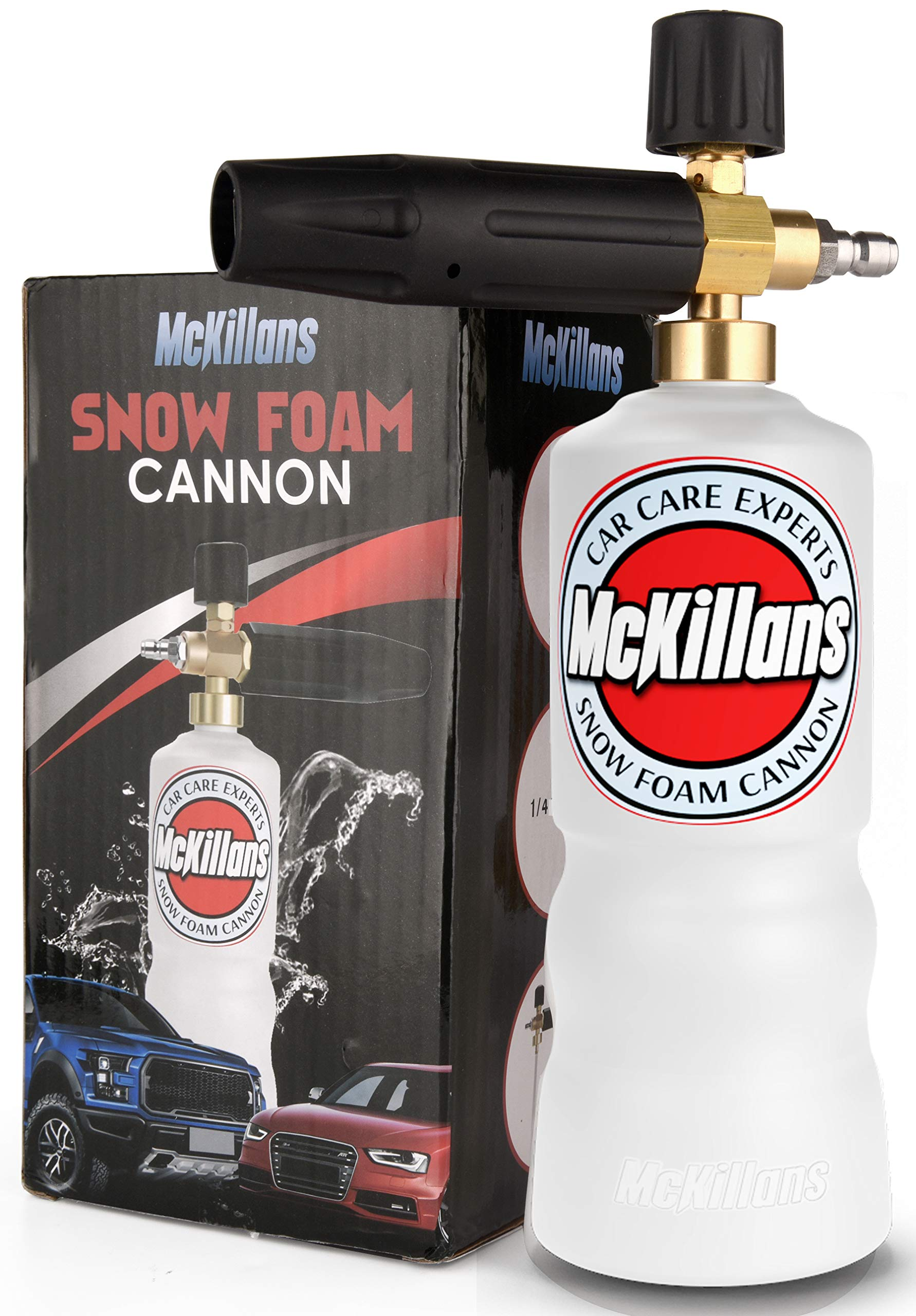 McKillans Foam Cannon Professional Grade Adjustable Lance Pressure Washer Jet Wash with 1/4'' Quick Connector