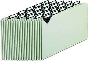 Pendaflex MTN1025 Steel Top Tab Recycled Guides, Alpha, 1/5 Tab, Pressboard, Legal (Set of 25)