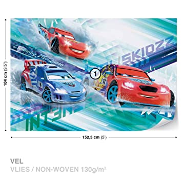 Disney Cars Raoul ÇaRoule McQueen Wall Mural Photo Wallpaper Room Décor  (3212WS)