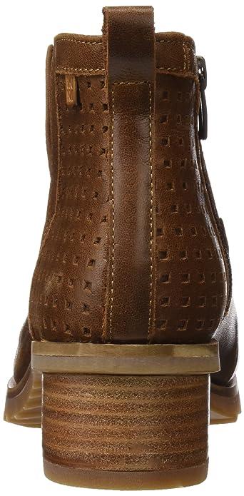 Schwarze Stiefel gefütterte Ferse Block von 9 cm Leder look ChaussMoi