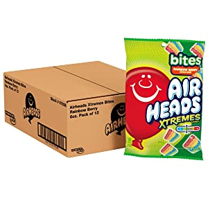 Airheads Xtremes Bites Sweetly Sour Candy, Rainbow Berry, Non Melting, Bulk Party Bag, 6 oz (Pack of 12)