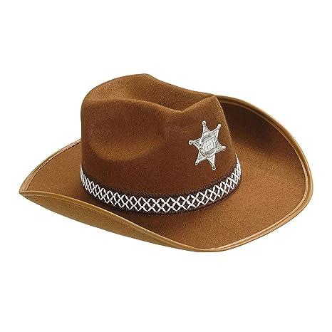 43f5174a7c787 Amazon.com  Sheriff Felt Child Size - Brown Sheriff Hats Caps   Headwear  For Fancy Dress  Home Improvement