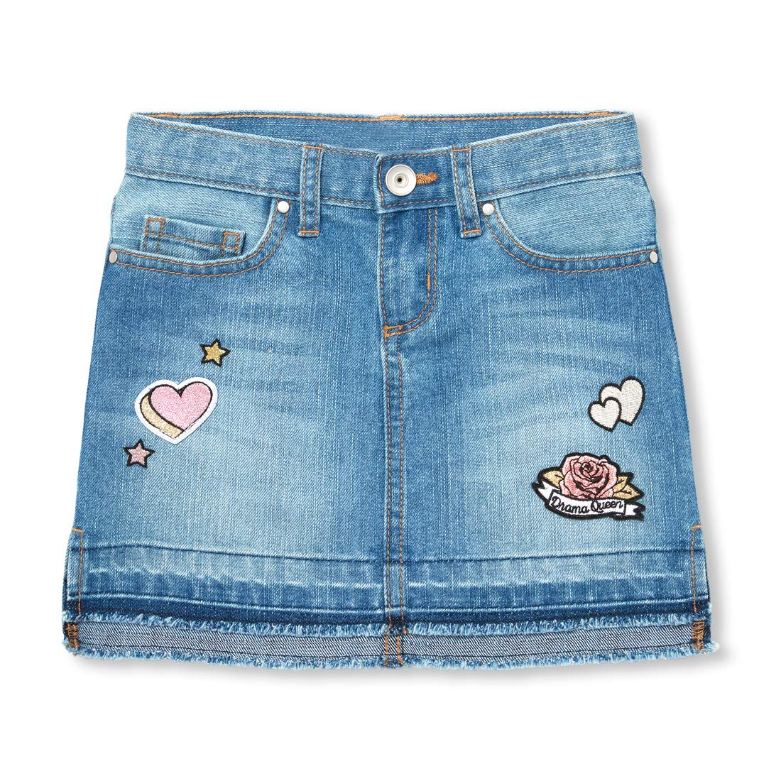 The Childrens Place Girls Big Fashion Denim Skirt
