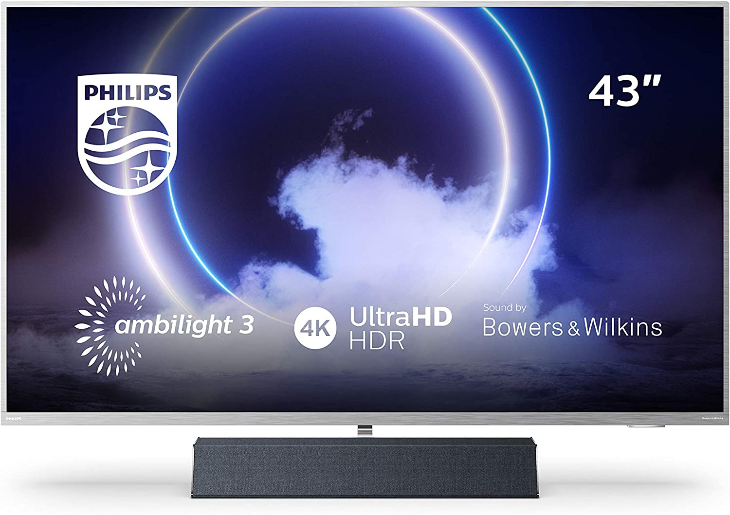 Philips Ambilight TV 43PUS9235/12 Smart TV 43 Pulgadas con Sonido de Bowers & Wilkins (P5 Engine, 4K UHD, Dolby Vision∙Atmos, Android TV, HDR 10+, ...