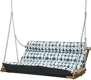 product image for Hatteras Hammocks Deluxe Sunbrella Cushion Swing - Midori Indigo