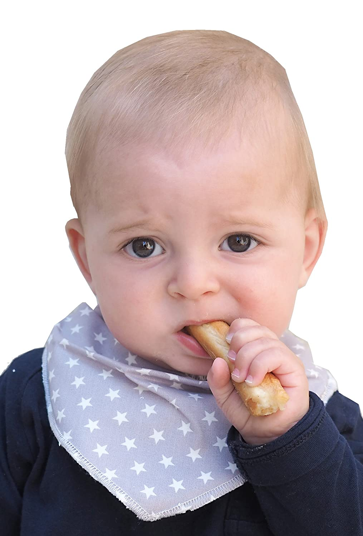 Ti TIN Pack 8 Baberos Pa/ñuelo Bandana Impermeables y Transpirables para Beb/é con Cierre con broches compuesto de Algod/ón-Poliuretano Lote de 8 Baberos para Beb/és de 6 a 12 meses