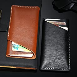Bosun£¨TM) FLOVEME Genuine Leather Wallet Universal Case For iPhone 7 6 S