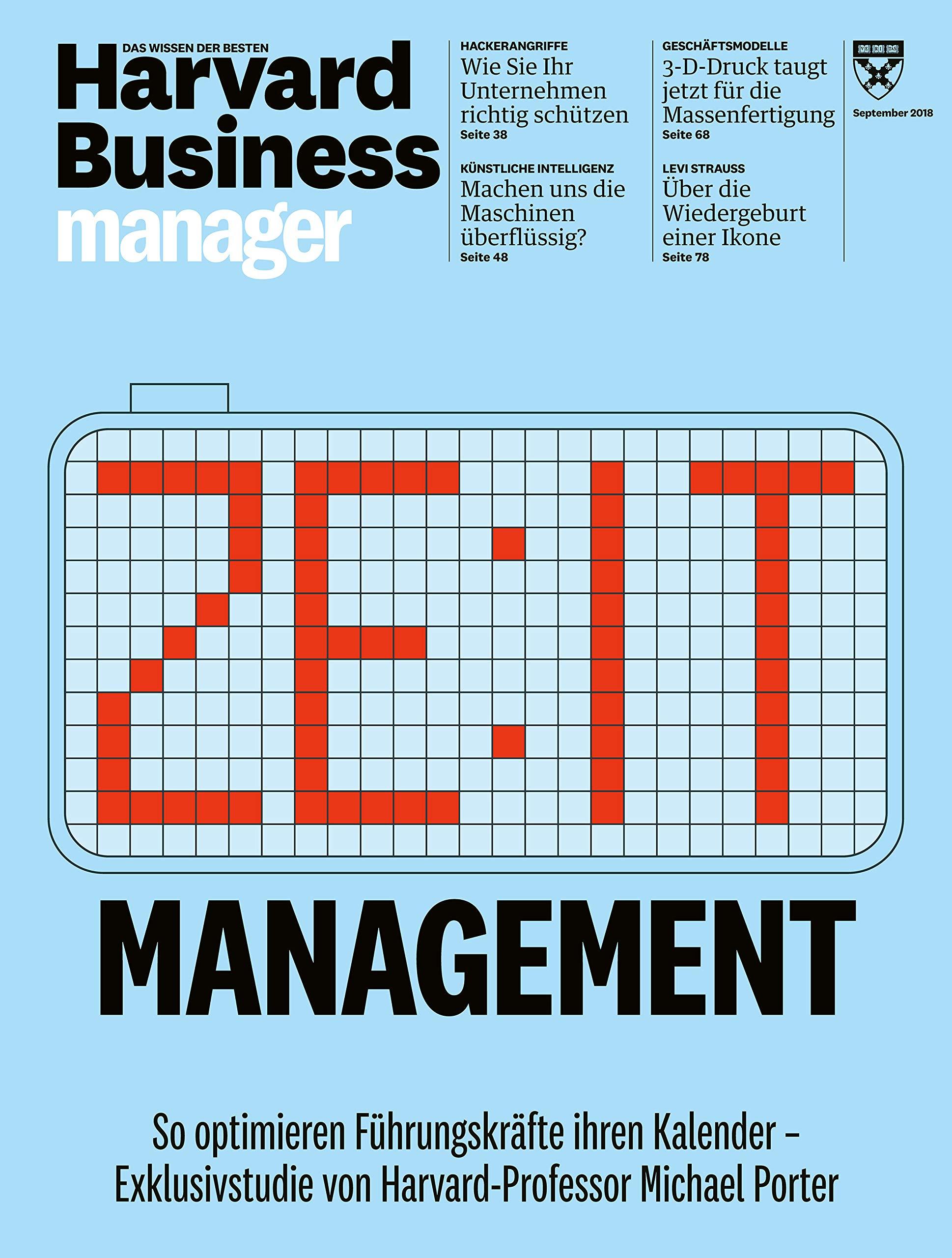 Harvard Business Manager 92018 Zeitmanagement Amazonde